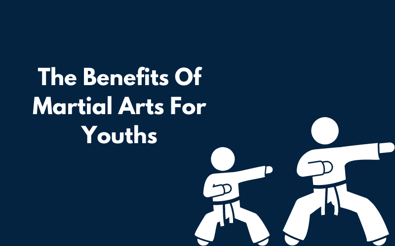 A Canva graphic showing the benefits of martial arts for youths